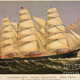 Clipper Ship Three Brothers by Dale Powell
