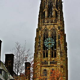 Clock Tower At Yale  by Diana Hatcher
