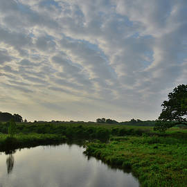 Ray Mathis - Clouds at Sunrise over Glacial Park Reflected in Nippersink Creek