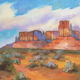 Clouds Passing Monument Valley - Diane McClary