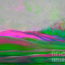 Clouds Rolling In Abstract Landscape Pink by Eloise Schneider Mote