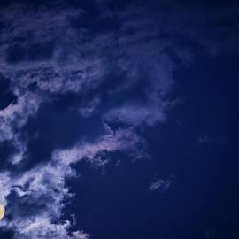 Karen Slagle - Cloudy Moon with Jupiter