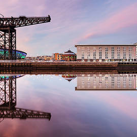 Grant Glendinning - Clyde waterfront reflection at Sunset
