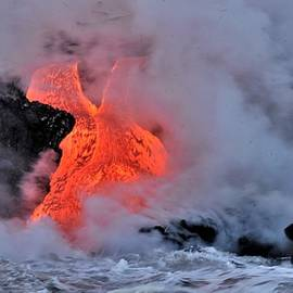 Coastal Lava Stream by Heidi Fickinger