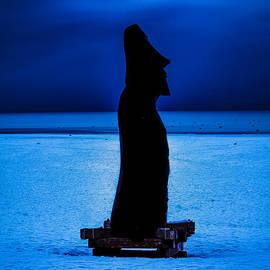 Mitch Shindelbower - Cobalt Blue Moai