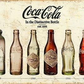 Coca-cola Bottle Evolution Vintage Sign by Tony Rubino