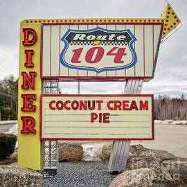 Coconut Cream Pie at the Route 104 Diner - Edward Fielding