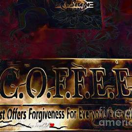 Catherine Lott - COFFEE Detailed and Painted In Thick Paint