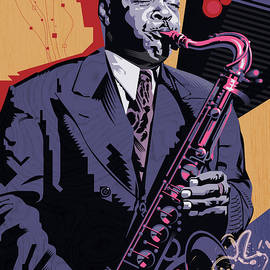 Coleman Hawkins Cool by Garth Glazier