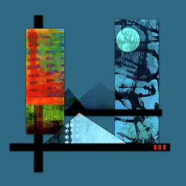 Collage Landscape 1 by Patricia Lintner