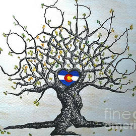 Aaron Bombalicki - Colorado Flag Love Tree