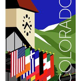 Colorado Vail Clocktower by Sam Brennan