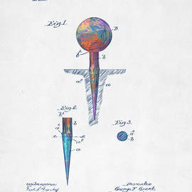 Colorful 1899 Golf Tee Patent - Nikki Marie Smith