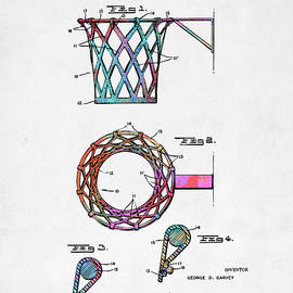 Nikki Marie Smith - Colorful 1951 Basketball Net Patent Artwork
