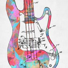 Colorful 1961 Fender Guitar Patent - Nikki Marie Smith