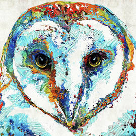 Colorful Barn Owl Art - Sharon Cummings by Sharon Cummings