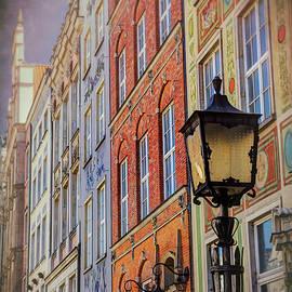 Colorful Buildings of Dluga Street Gdansk Poland by Carol Japp