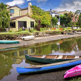Lynn Bauer - Colorful Canoes on the Canal