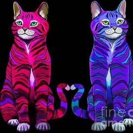 Colorful Cats Together