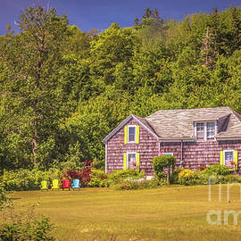 Claudia M Photography - Colorful chairs on the lawn