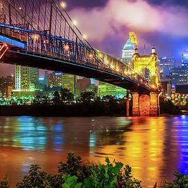 Gregory Ballos - Colorful Cincinnati Skyline Cityscape