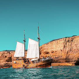 Colorful Coastal Sailing on an Old Wooden Tall Ship by Georgia Mizuleva