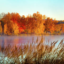 Colorful dawn on Haley Pond by Jeff Folger