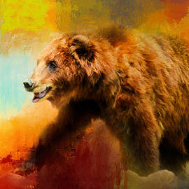 Jai Johnson - Colorful Expressions Grizzly Bear