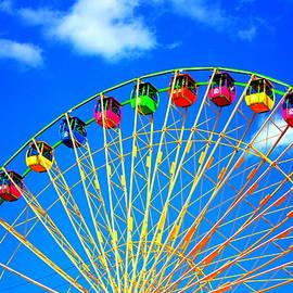 Colorful Ferris Wheel by Cynthia Guinn