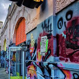 Kathleen K Parker - Colorful Graffiti and Dirty Coast Sign-NOLA