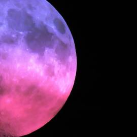Colorful Half Moon by Carol McGrath