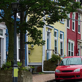 Colorful Homes And Cars In St. John's by Les Palenik