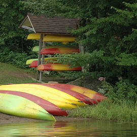 Colorful Kayaks by Kathy Carlson