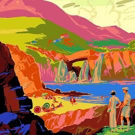 Studio Grafiikka - Colorful Landscape Painting - Kuling, China - Vintage Travel Poster