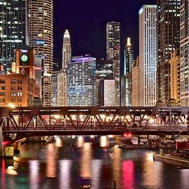 Skyline Photos of America - Colorful Lights in the Windy City