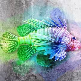 Colorful Lionfish No 01 by Mia Stedt