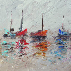 Ken Figurski - Colorful Modern Impressionistic Sailboat Painting 3