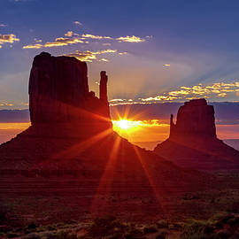 Colorful Monument Valley Sunrise by Teri Virbickis
