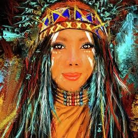 Colorful Native American Woman - Lourry Legarde