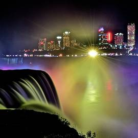 Frozen in Time Fine Art Photography - Colorful Niagara Night