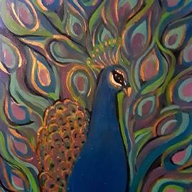 Sonia Mays - Colorful peacock