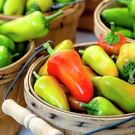 Colorful Peppers by Teri Virbickis