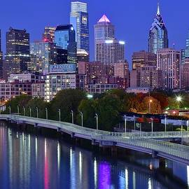 Colorful Philly Night Lights by Frozen in Time Fine Art Photography