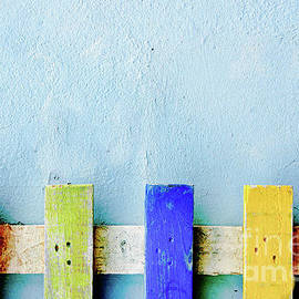 Colorful picket fence - Tom Gowanlock