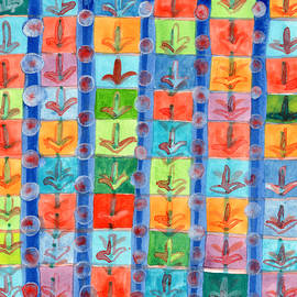 Heidi Capitaine - Colorful Planting Plants in Squares Pattern