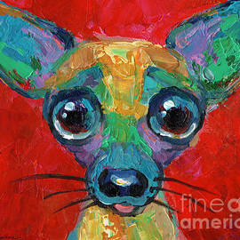 Svetlana Novikova - Colorful Pop art chihuahua painting