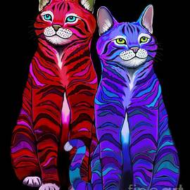 Colorful Striped Cats