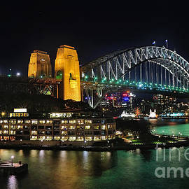 Colorful Sydney Harbour Bridge by Night 2