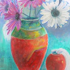 Khalid Saeed - Colorful vases and flowers