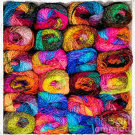 Colorful Yarn - Painterly by Les Palenik